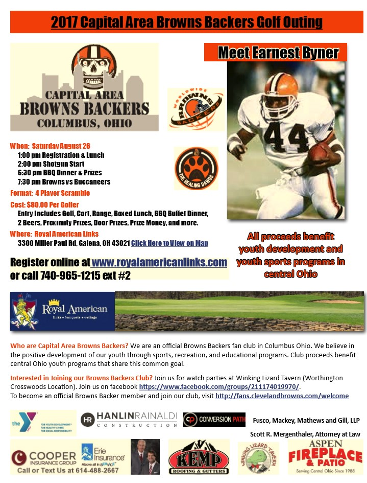 Capital Area Browns Backers Golf Outing